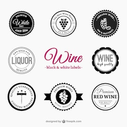 Pack of wine and liquor labels