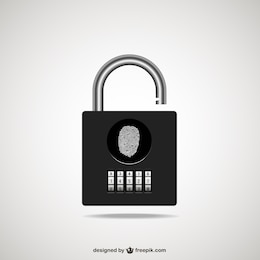 Padlock illustration vector