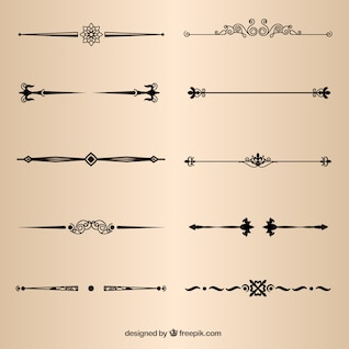 Page decorative dividers vector elements