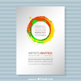 Paint splash party poster