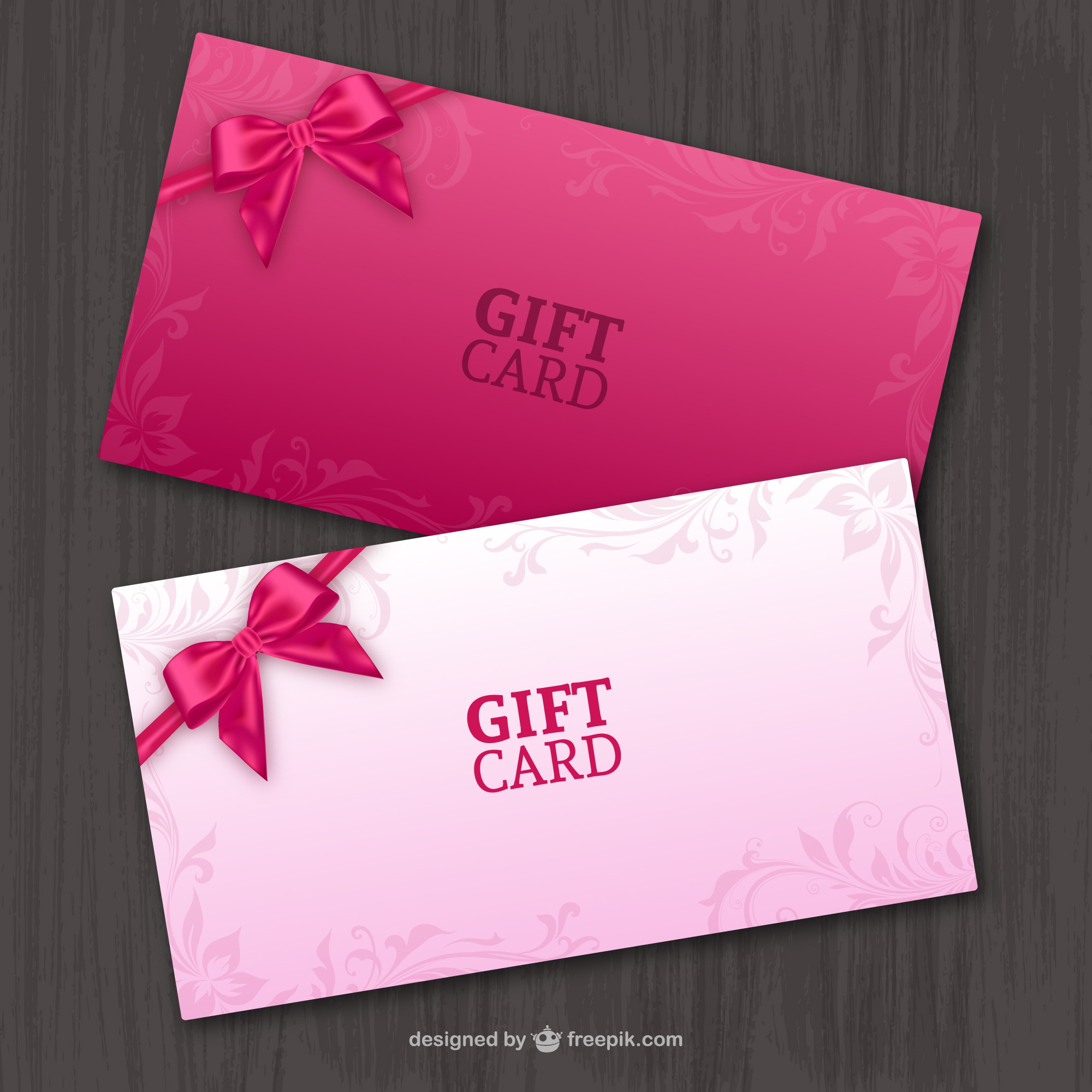 Pair of gift cards vector