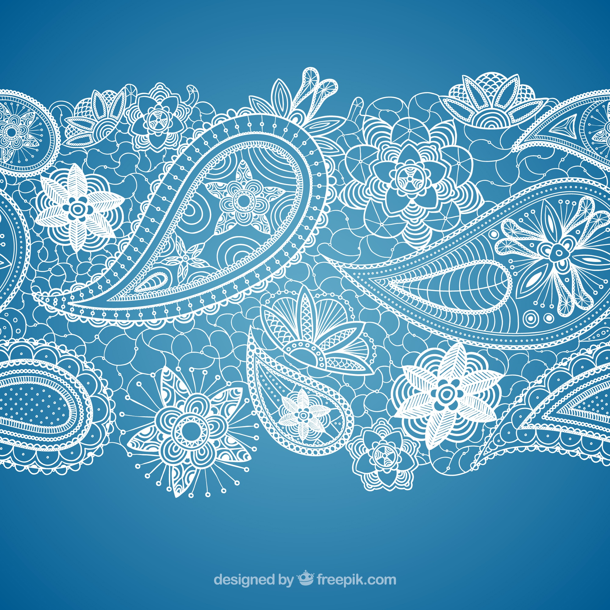 Paisley lace background