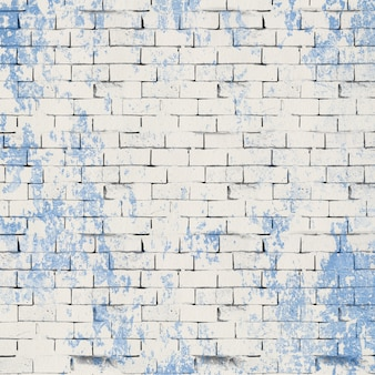 Pale and blue brick wall