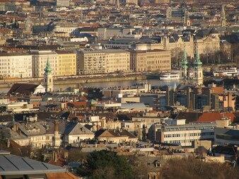 Panorama budapest spring