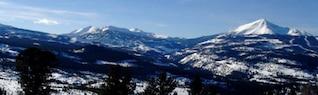 Panoramic winter scene