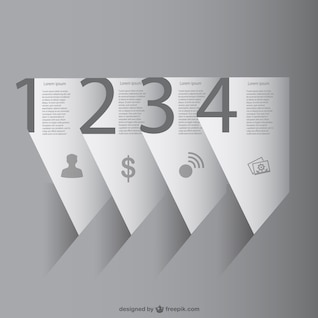 Paper 3D infographic vector