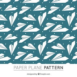 Paper airplane pattern free