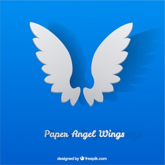 Paper angel wings