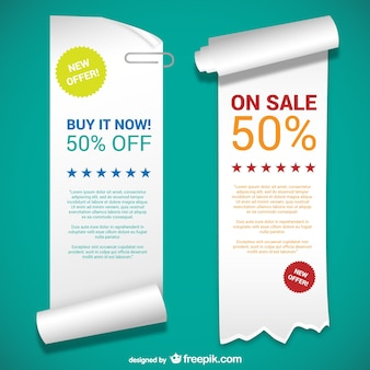Paper banner templates