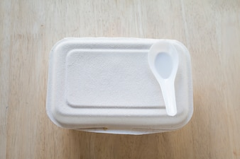 Paper box for food package