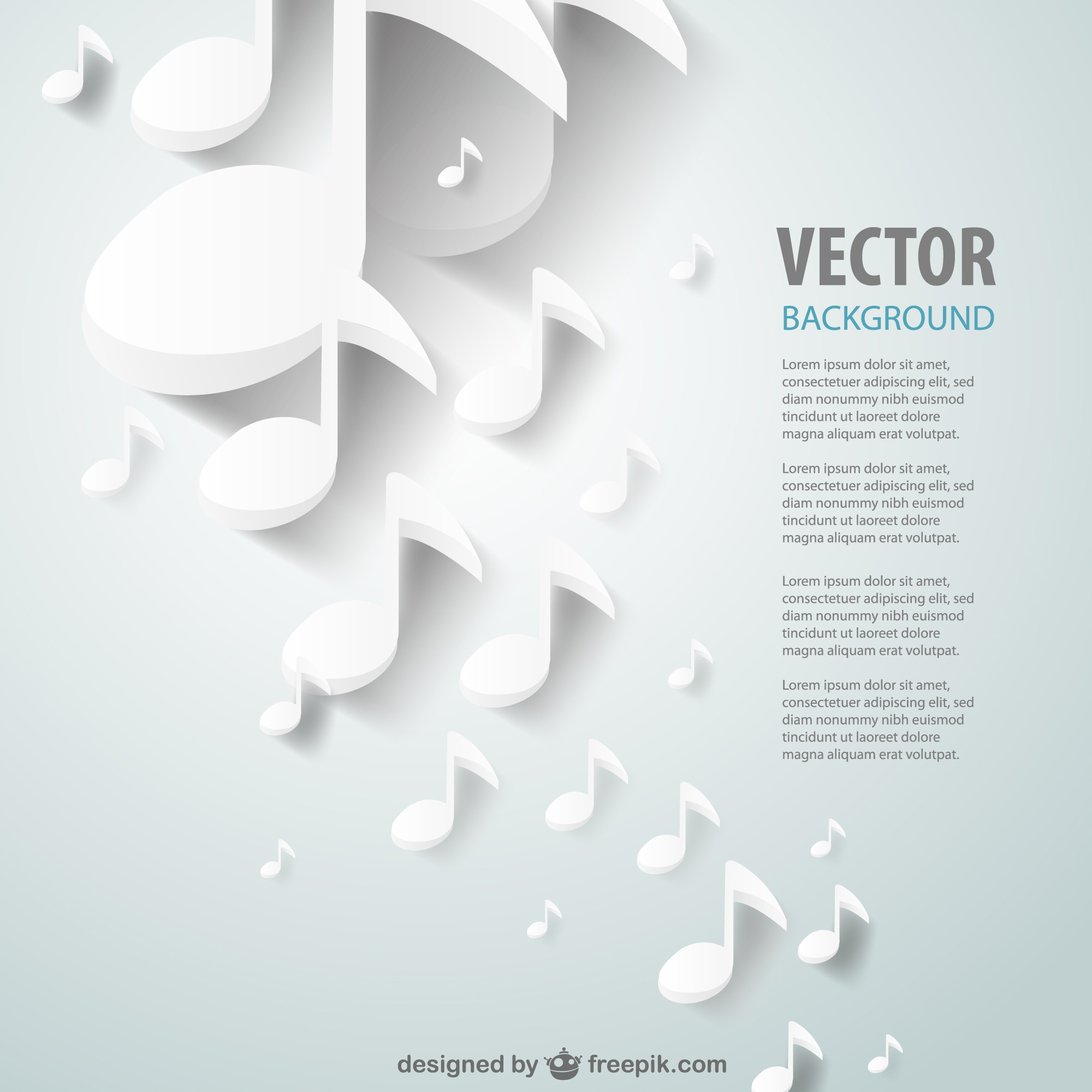 Paper cut out music vector background