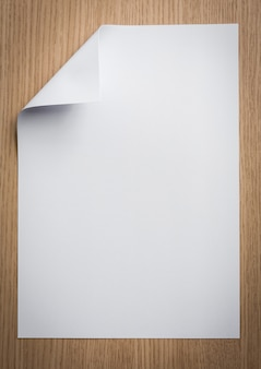 Paper foil with a folded corner
