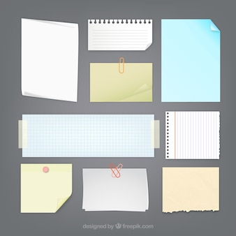 Paper notes collection