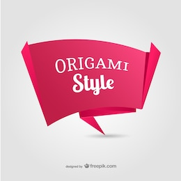 Paper origami banner vector