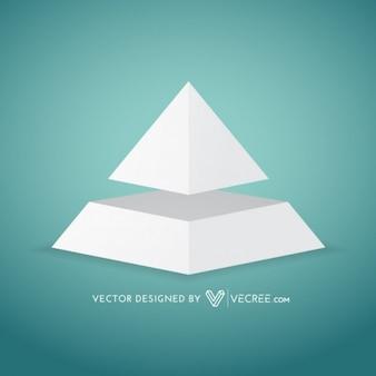 紙のピラミッドインフォグラフィックイラスト