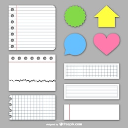Paper textures and stickers