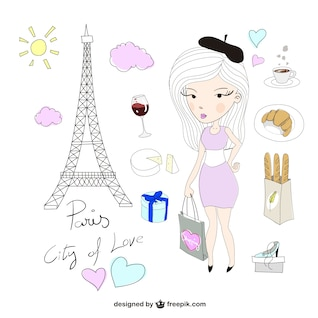 Paris illustrations pack
