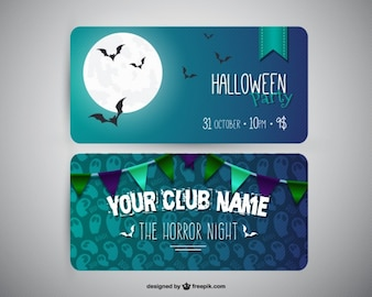Party banner templates for Halloween