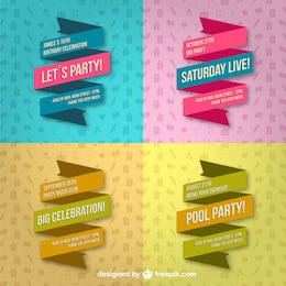 Party lace banners