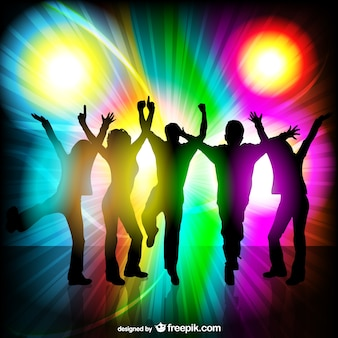 Party people disco themed vector