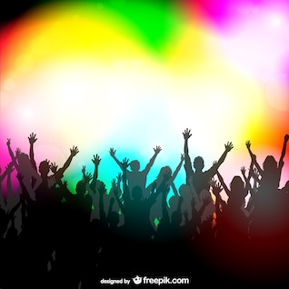 Party people vector illustration