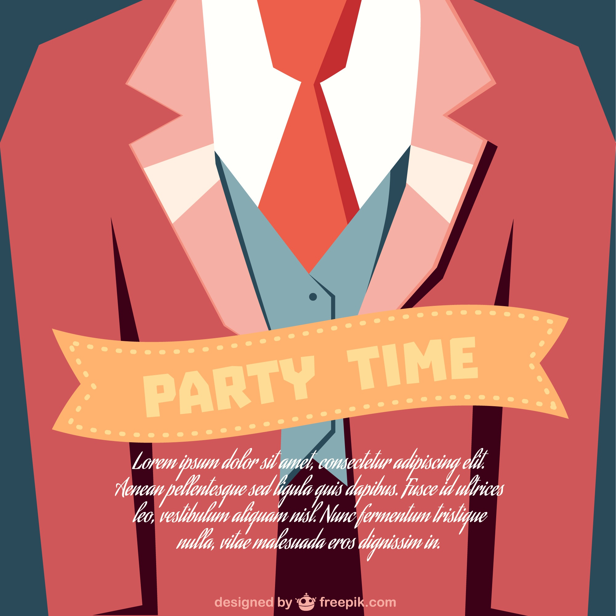 Party time invitation card