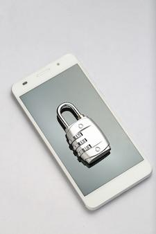 Password lock on the phone screen