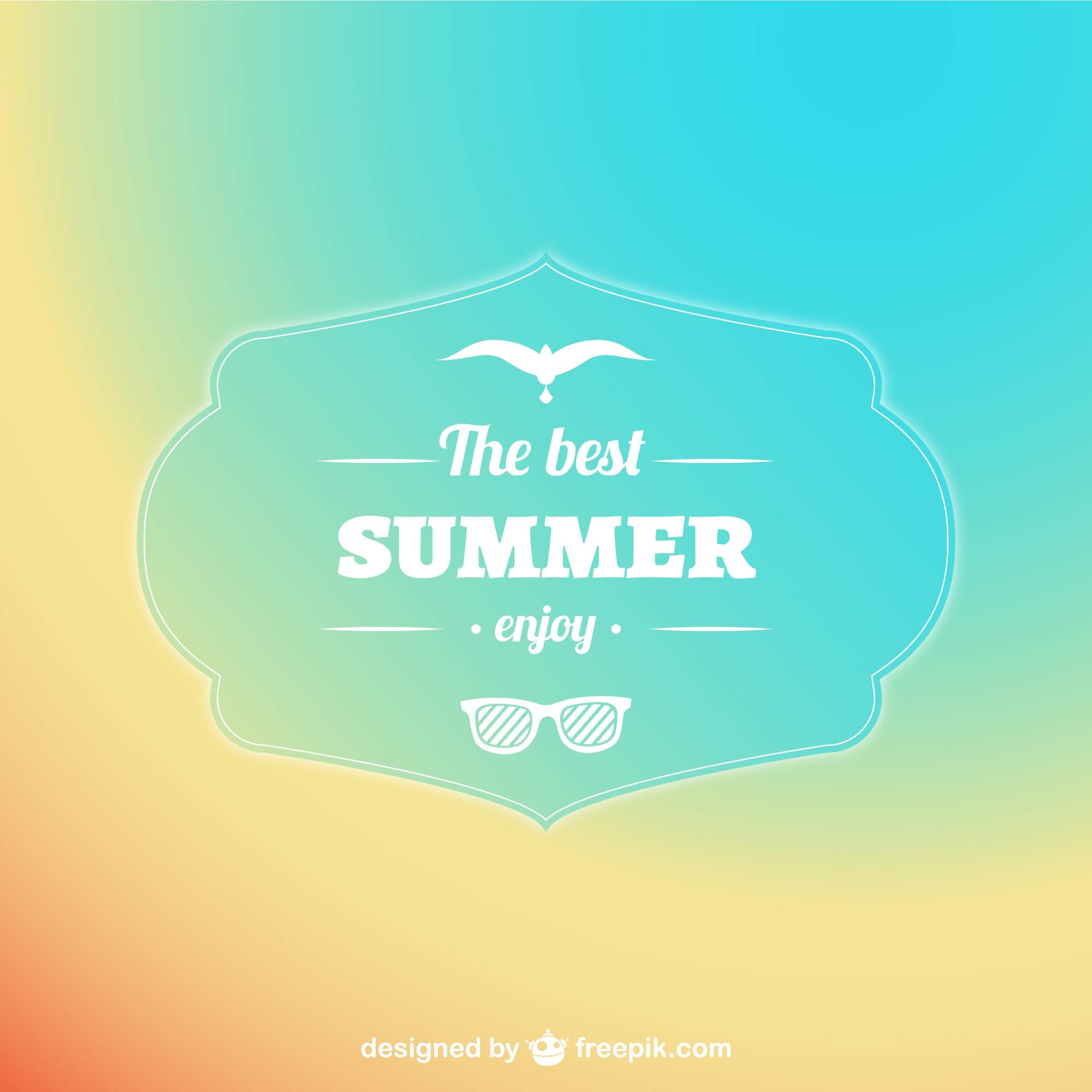 Pastel abstract summer background