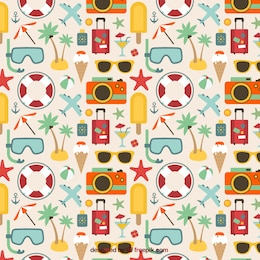 Pattern of summer icons