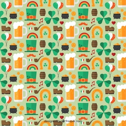 Pattern with St Patrick charms