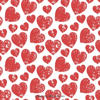 pattern with stamped hearts