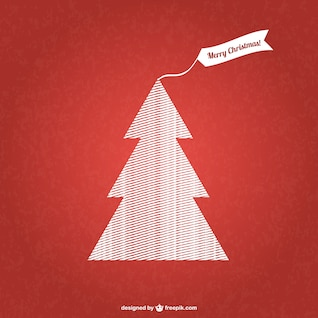 Patterned Christmas tree vector