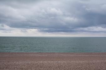 Peaceful beach landscape