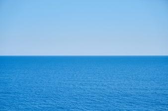 Peaceful sea and blue sky
