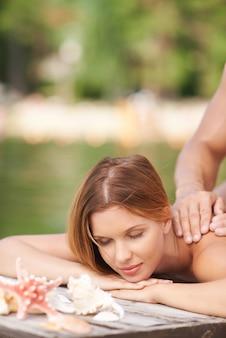 Peaceful summer massage
