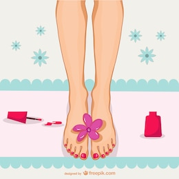 Pedicure illustration