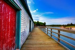pei beach boardwalk   hdr  beach