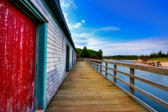 pei beach boardwalk   hdr