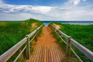 pei beach boardwalk  island