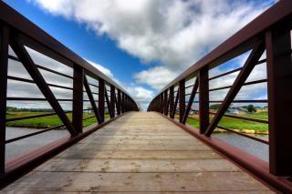 Pei country bridge   hdr  wood