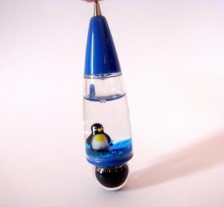 Penguin Blue Ball Pen, compass