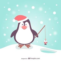 Penguin cartoon for Christmas