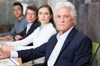 People businessman business table row