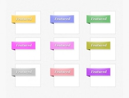 perfect featured ribbon corners set psd
