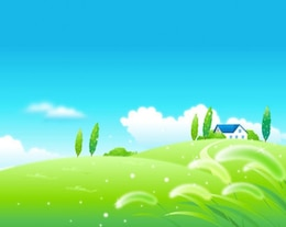 Perfect nature landscape vector