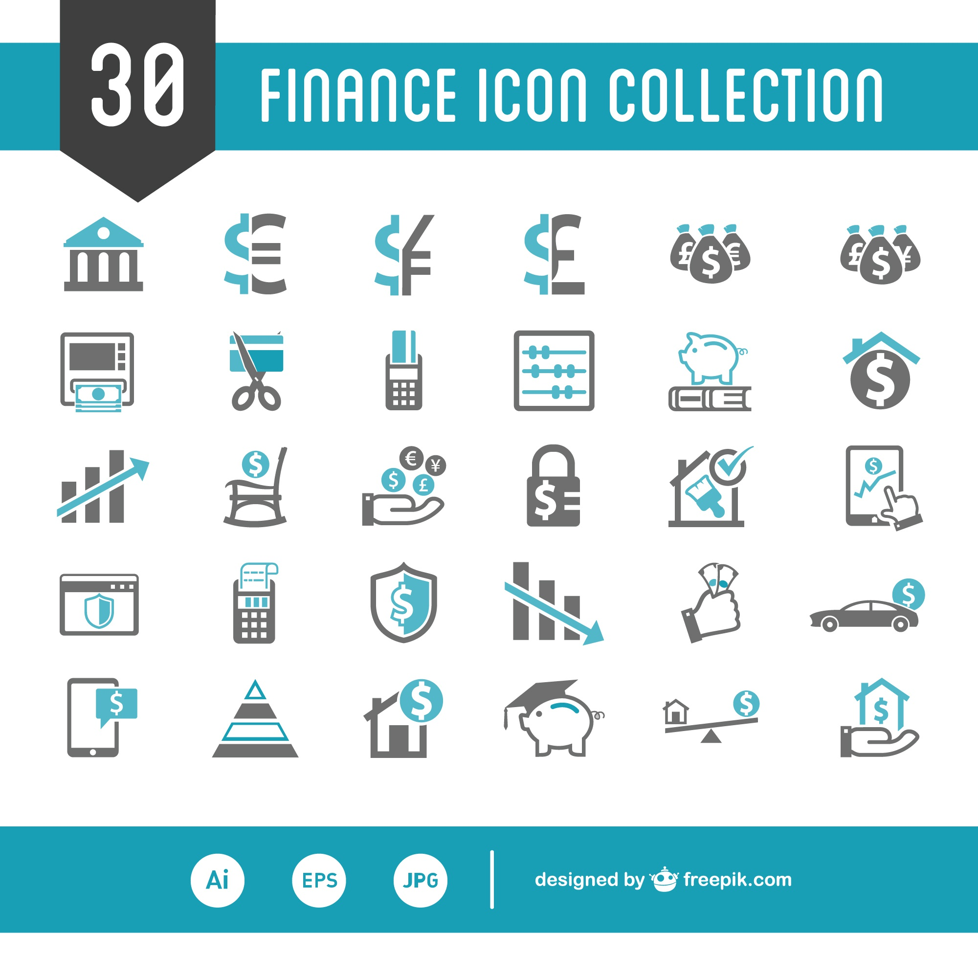 Personal finance vector set
