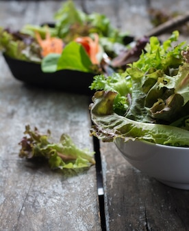 Pesto salad colorful steam boiled
