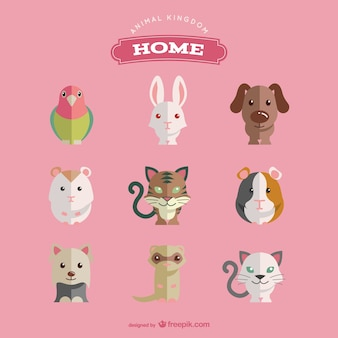 Pet animals set