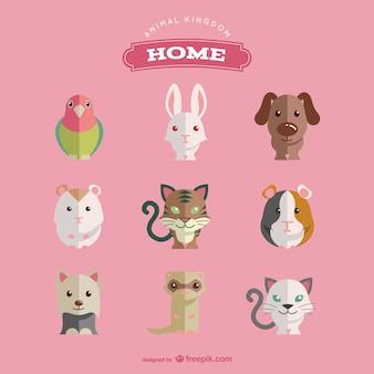 Pet animals set