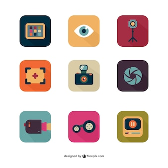 Photo and video icons
